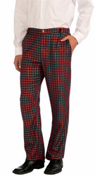 Plaid Pants Christmas Red and Green Mens Costume