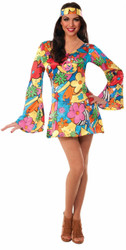 Adult Hippie Groovy Go-Go Dress
