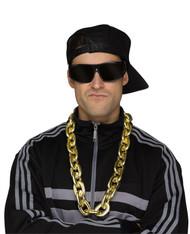 Gold Big Link Rapper Chain Costume Accessory