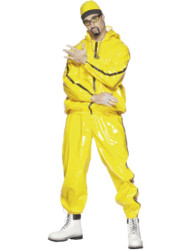 Rapper Suit Yellow PVC Ali G Costume