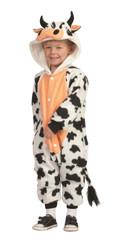 COW FUNSIE pajamas onesie barn animal jumpsuit toddler fleece costume 3T 4T