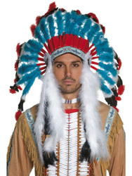 Non Native Western Indian Headdress Costume Accessory