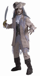 PIRATE ZOMBIE ghost ghoal dead mens blackbeard halloween costume