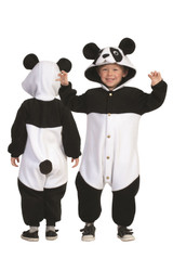 PANDA FUNSIE pajamas onesie animal jumpsuit toddler kids fleece costume 3T 4T
