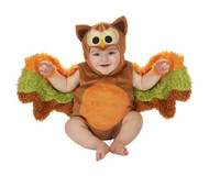OWL ROMPER baby infant onesie wise animal boys girls halloween costume 6M 12M