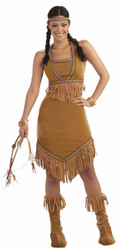 Native Warrior Princess Costume Adult Standard