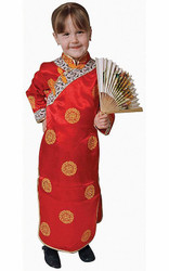 CHINESE GIRL geisha kimono dress asian toddler girls halloween costume SMALL