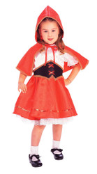 RED RIDING HOOD toddler girls red dress up fairytale halloween costume 2T 4T