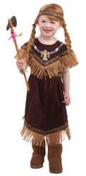 NATIVE AMERICAN PRINCESS toddler girls indian pocahontas halloween costume 2T 3T