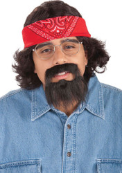 CHONG KIT mustache wig bandana glasses cheech and chong adult halloween costume