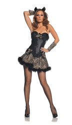 Sexy Leopard Kitty Dress Women's Costume