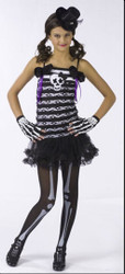 Skeleton Sweetie Dress Girl's Costume