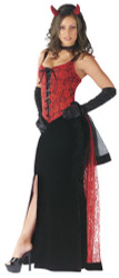 Devilish Woman Adult Corset Dress Costume