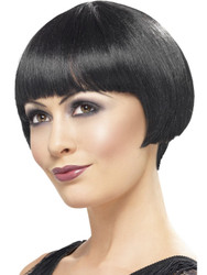 1920s BOB WIG black short hair bangs adult womens halloween costume accessory