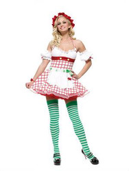 CHERRY GIRL fruit berry tea party candy womens sexy halloween costume L 12-14