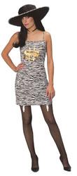 MONEY pimp pimpette zebra dress hat WOMENS costume
