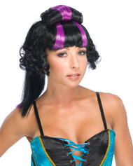 GEISHA WIG purple short curly hair arigato japan punk womens costume accessory