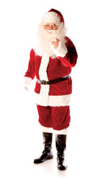 DELUXE VELVET SANTA red suit christmas claus st nick mens adult costume set