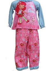 STRAWBERRY SHORTCAKE long sleeve shirt pants girls toddler pajamas costume 3T