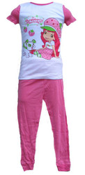 STRAWBERRY SHORTCAKE short sleeve shirt pants girls toddler pajamas costume 2T