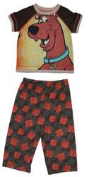 SCOOBY DOO short sleeve shirt pants girls boys toddler kids pajamas costume 4T