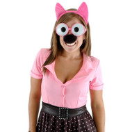HOOPS & YO-YO headband glasses nose pink cat tail womens halloween costume