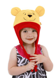 POOH HOODIE HAT kids boys girls winnie costume accessory winter gear
