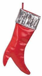 SEQUIN STILETTO STOCKING high heel red boot christmas decoration accessory