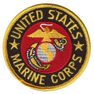 MARINE CORPS PATCH marines embroidered iron on  U.S.A. boys mens costume