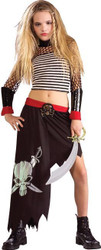 PIRATE GIRL buccaneer ship captain girls halloween costume tween teen MEDIUM 2-4