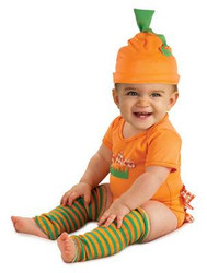 defect orange BABY PUMPKIN SET jumper kids girls boys infant halloween costume