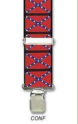 CONFEDERATE FLAG SUSPENDERS adult mens dixie south army costume accessory 48""