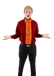 orange INSTA TUX fancy tuxedo tie kit adult mens costume halloween accessory