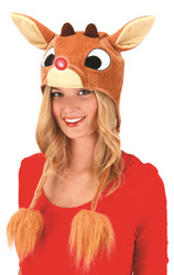 Rudolph Light-Up Hoodie Hat Christmas Kids Adult Costume Accessory