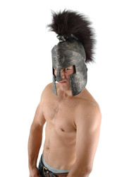 ROMAN SPARTAN HAT gladiator helmet EVA warrior medieval mens costume halloween