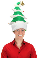 SPRINGY CHRISTMAS TREE HAT funny xmas Christmas teen mens womens adult costume