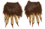 Hairy Latex Claw Hands Adult