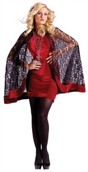 Velvet and Lace Goth Vampire Capelet Costume