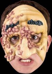 CONTAGIOUS boils moles latex half mask halloween costume prop