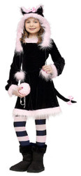 PRETTY KITTY cat animal toddler girls kids halloween costume child SMALL 4 - 6