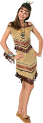 non NATIVE PRINCESS pocahontas indian american Tween girls halloween costume 2/4