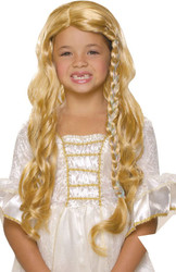 GLAMOROUS PRINCESS WIG blonde gold rapunzel tangled girls halloween costume
