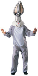 BUGS BUNNY cartoon animal rabbit funny halloween costume adult mens ONE SIZE