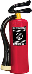 red INFLATABLE FIREMAN fire EXTINGUISHER kids prop halloween costume