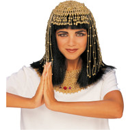 CLEOPATRA HEADPIECE egyptian queen beaded nefertiti mummy costume accessory