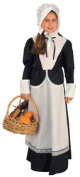 Colonial Pilgrim Girl Thanksgiving Prairie Amish Puritan Halloween Costume