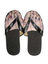 Zombie Feet Slip On Sandals Mens Costume