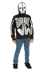 Skeleton Hoodie Boys Jacket Costume