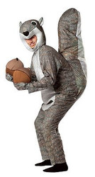 SQUIRREL adult funny nuts animal mens womens halloween costume ONE SIZE