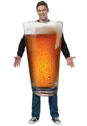 GET REAL BEER PINT funny mens unisex drinking glass halloween costume party